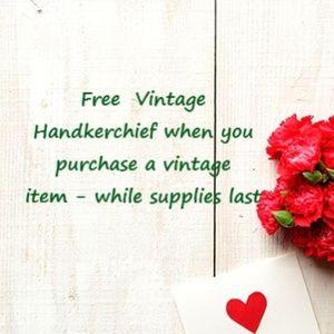 Free Vintage Handkerchief